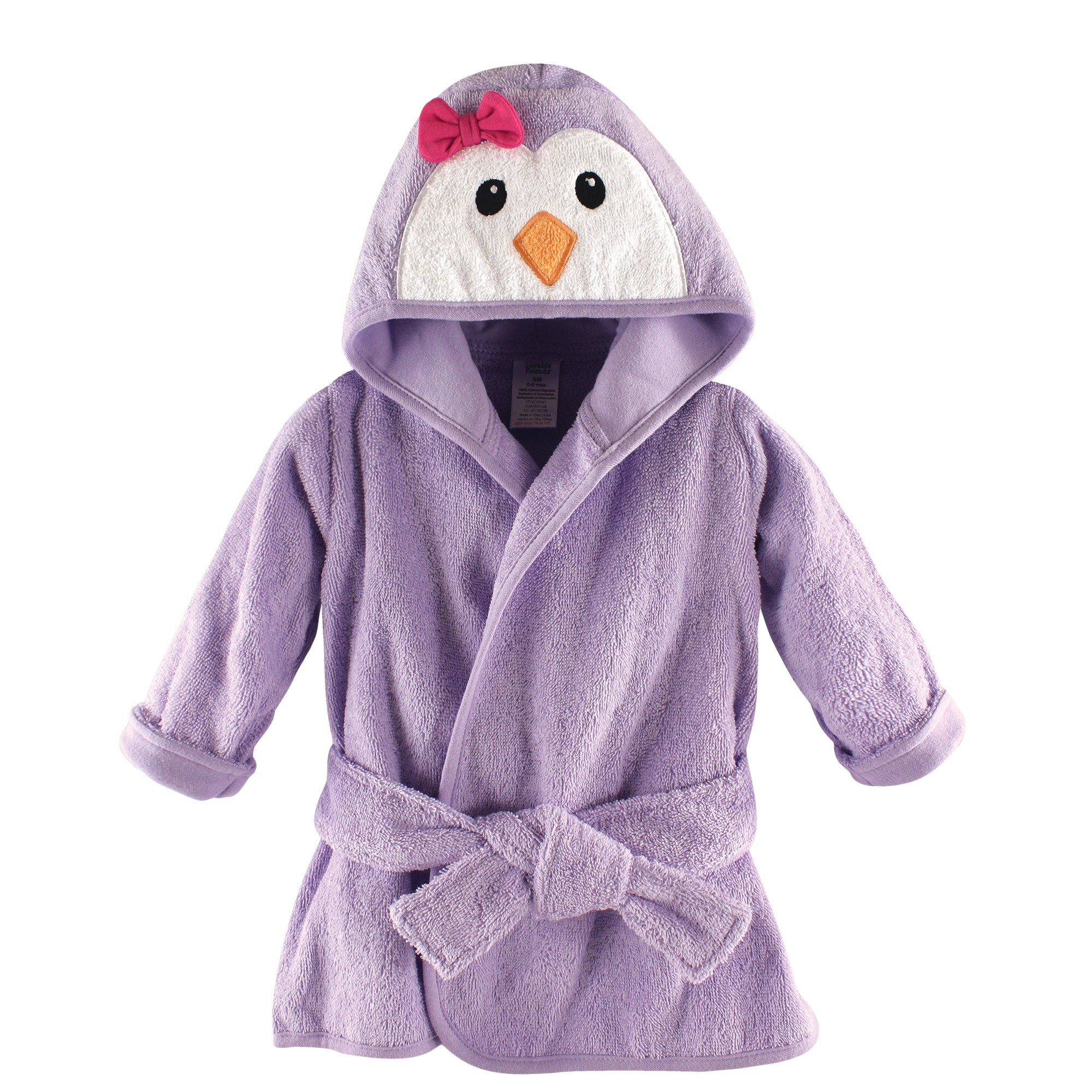 7bce139665 Baby Girl s Animal Face Hooded Bath Robe