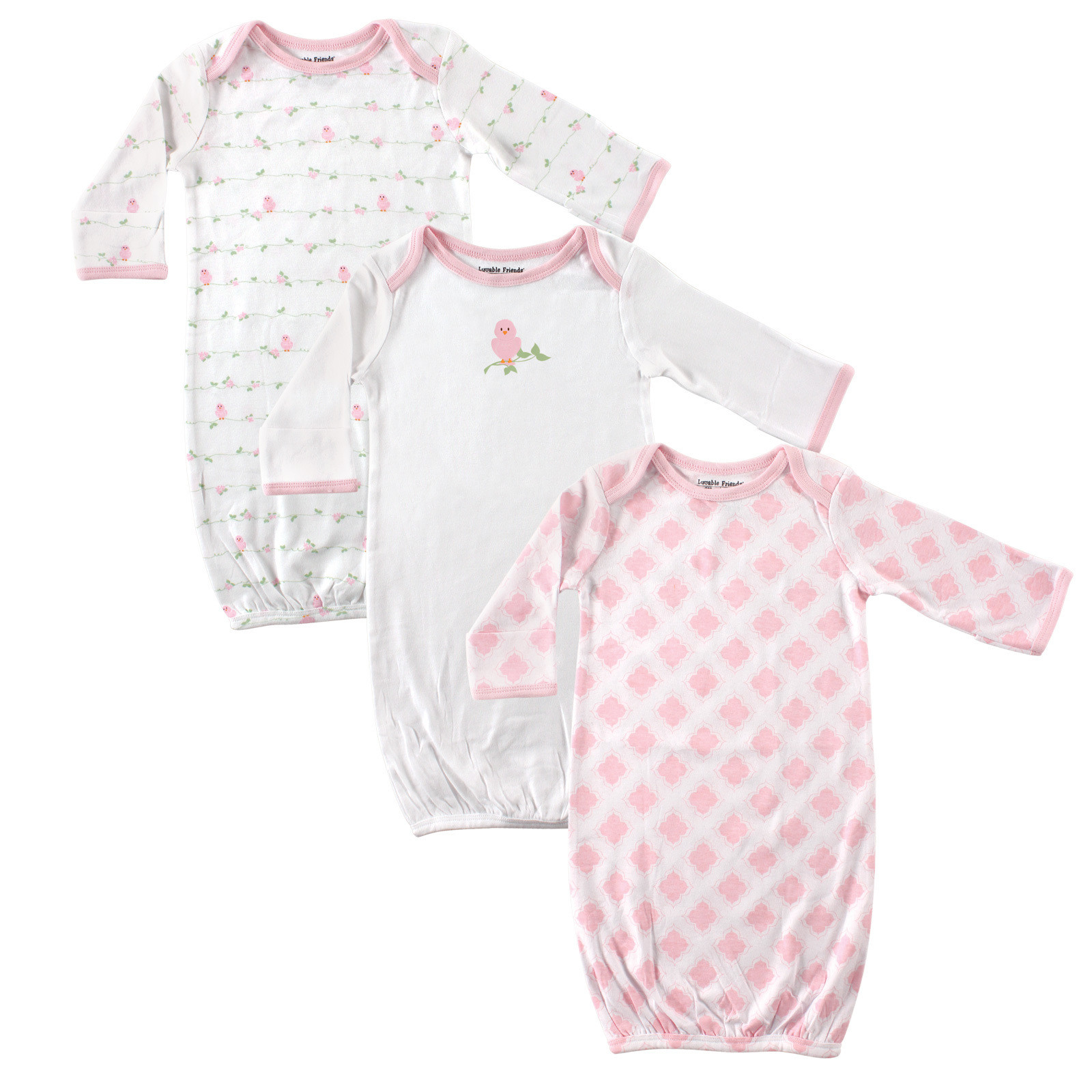 Luvable Friends - Baby Sleep Gowns, 3-Pack | Affordable Infant Clothing