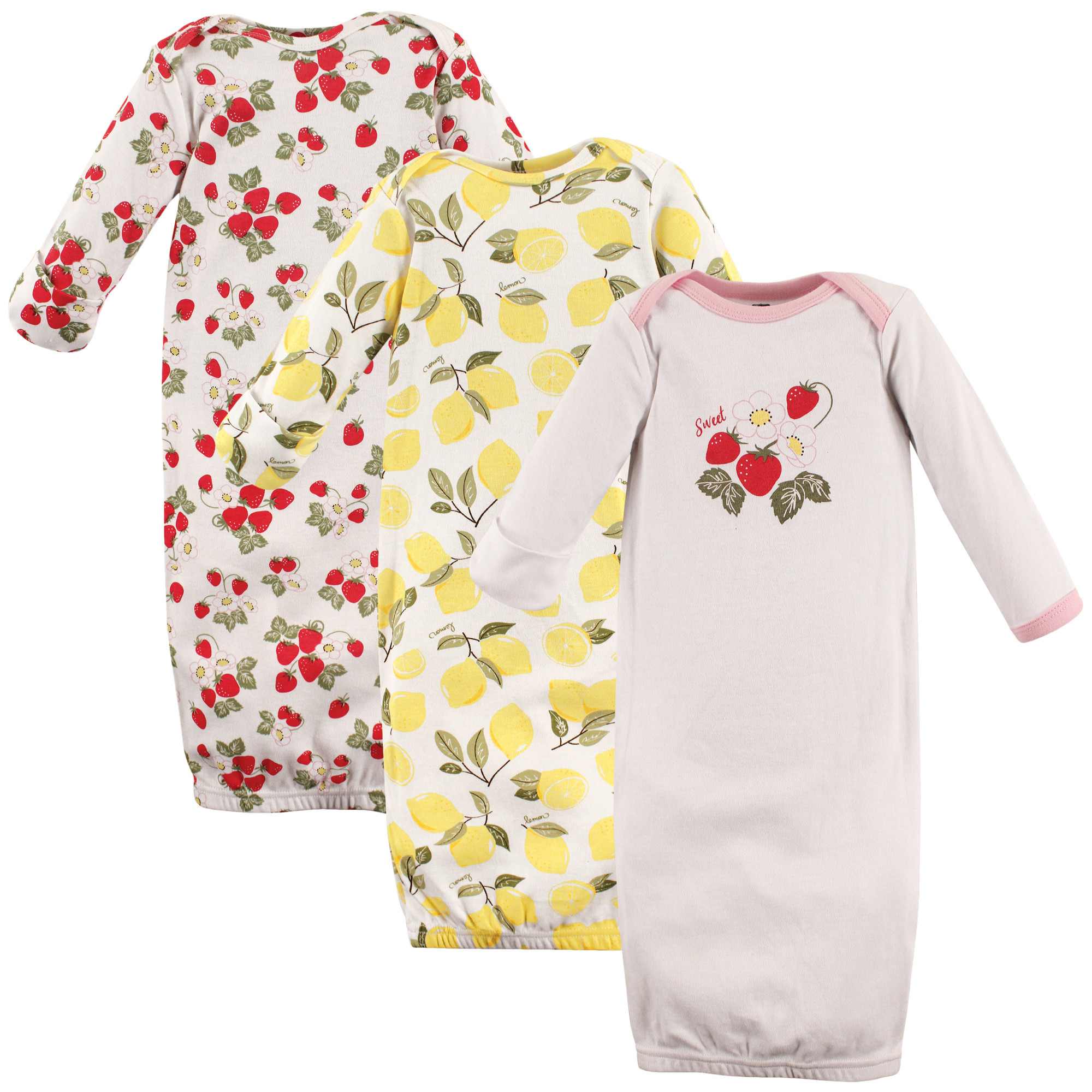 Hudson Baby - Baby Sleep Gowns, 3-Pack | Affordable Infant Clothing