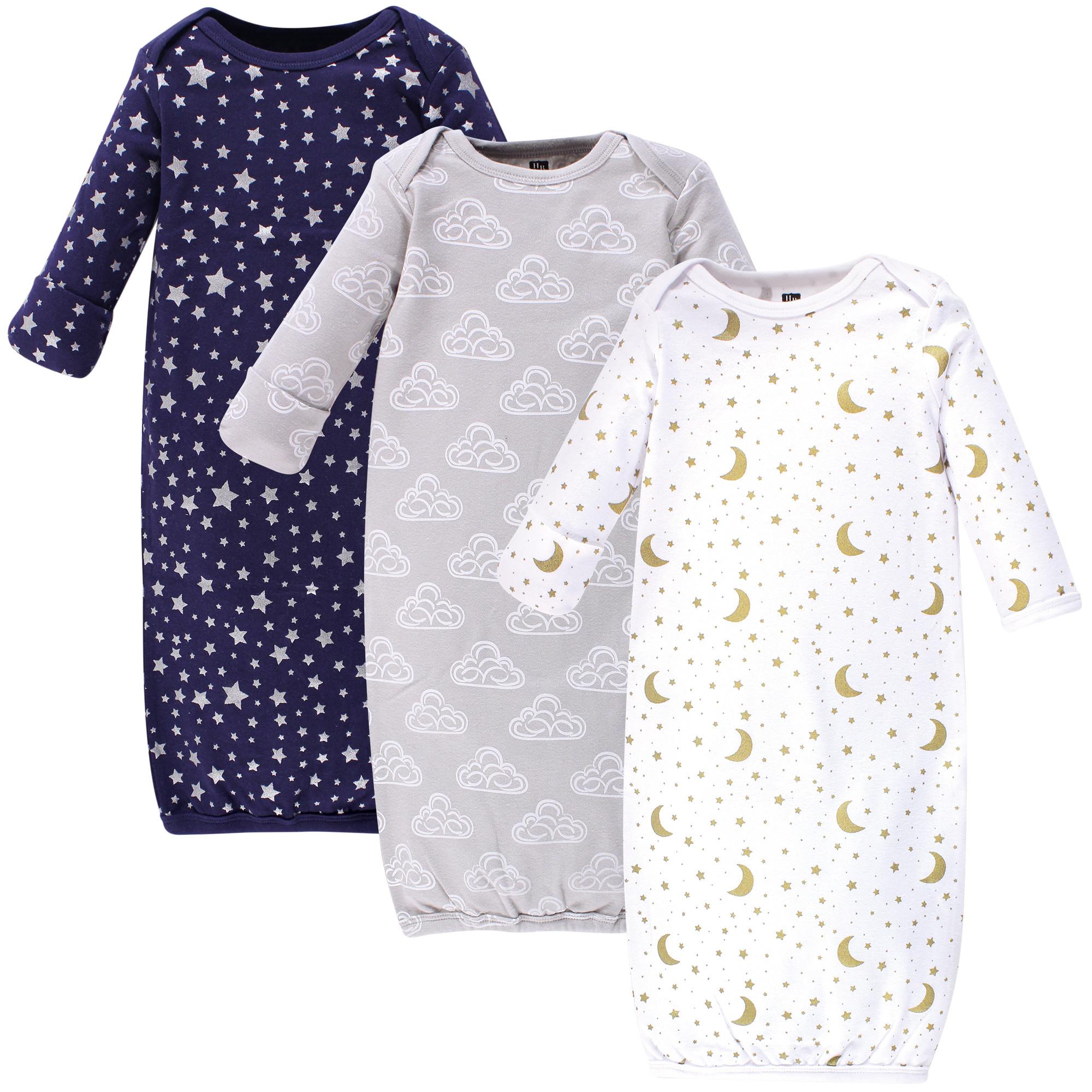 c7ca415906b0 3-Pack Rib Knit Infant Gowns