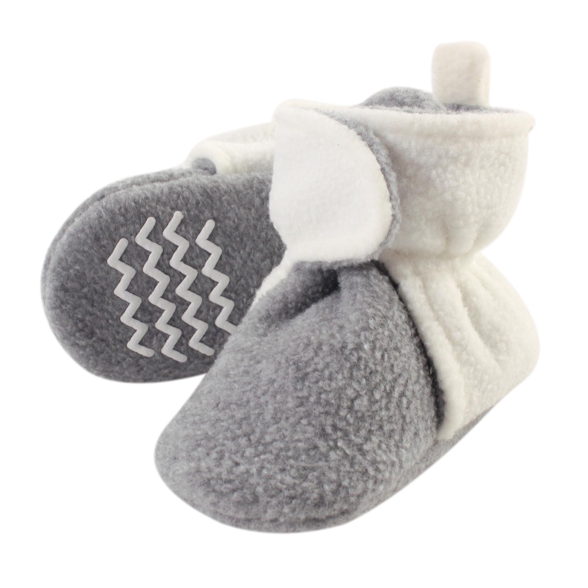 Hudson Baby Baby Cozy Fleece Booties with Non Skid Bottom
