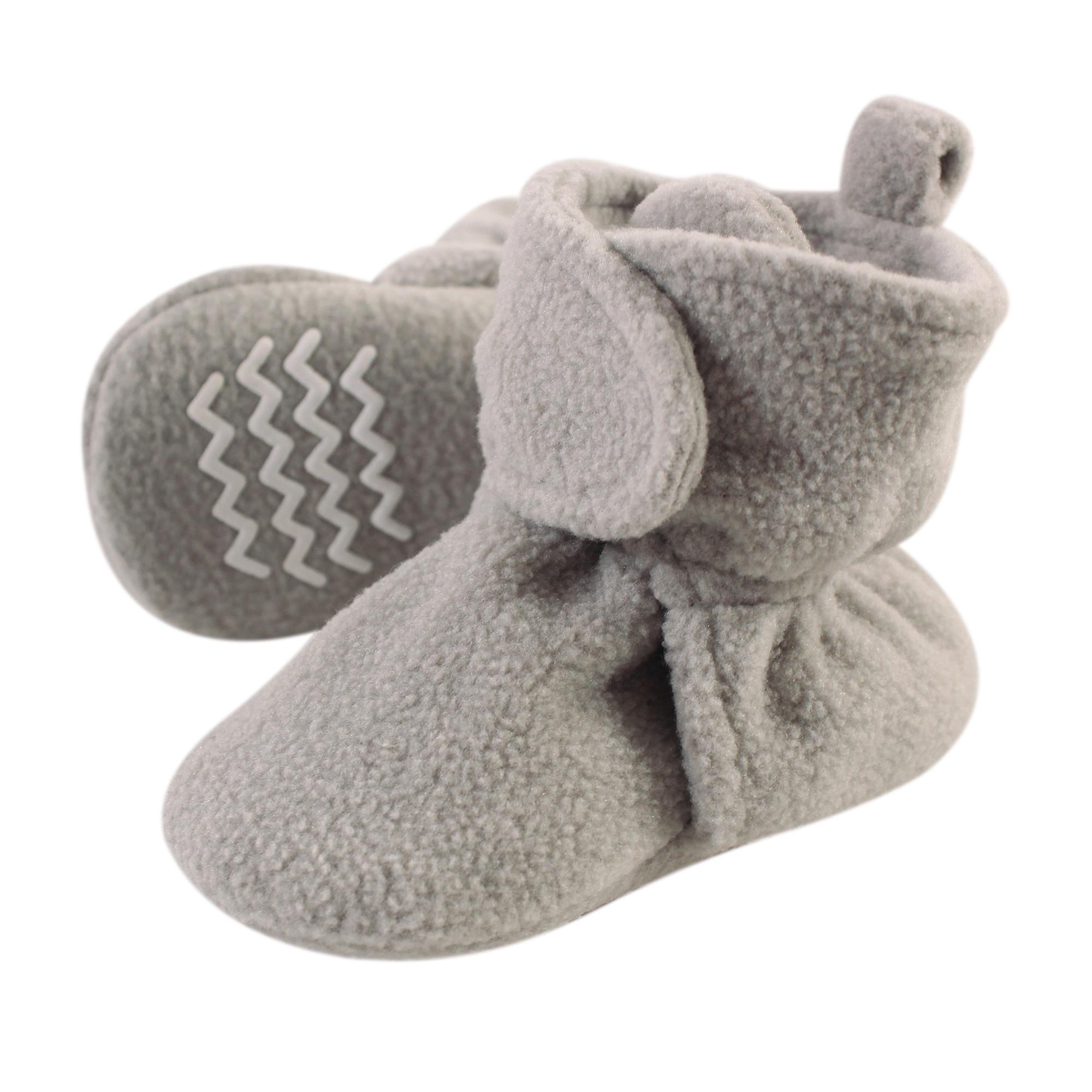 Fleece Lined Booties, Neutral Gray