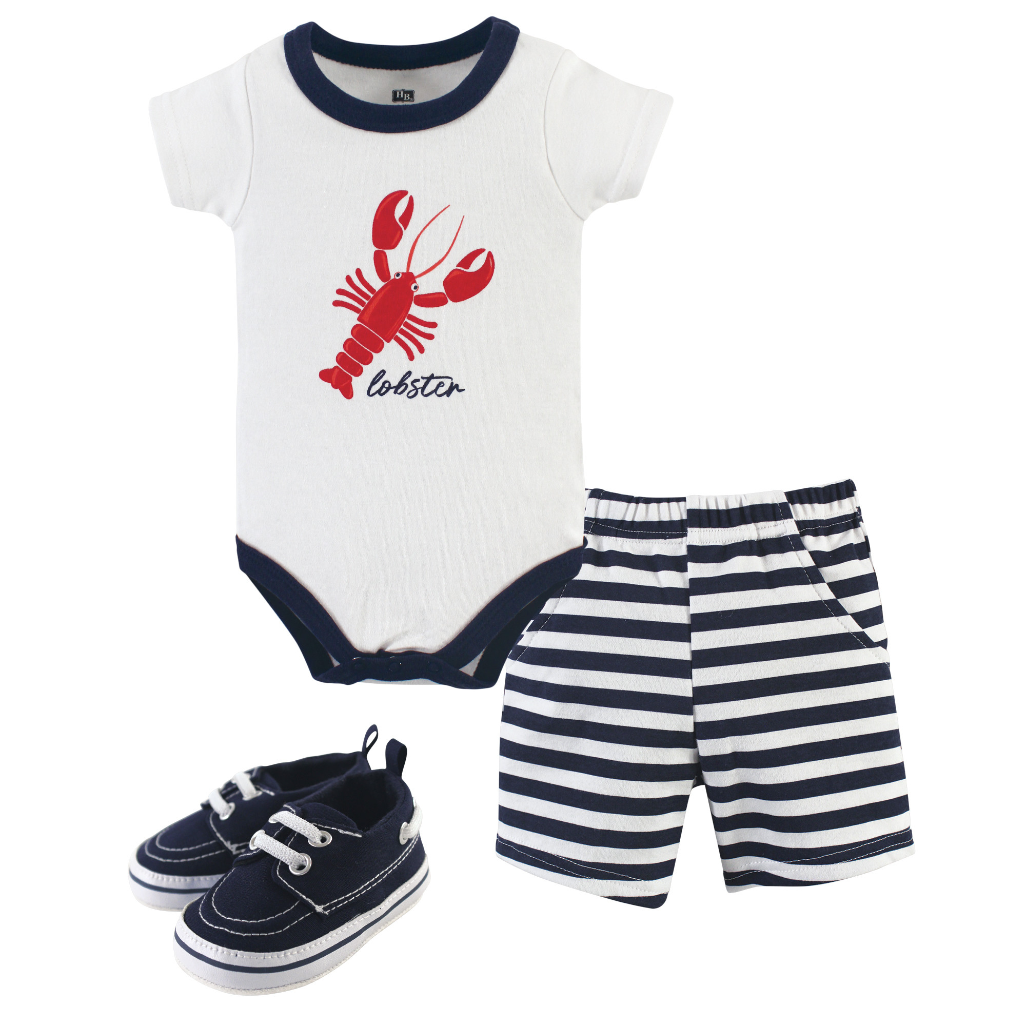 Shoe Set Short Hudson Baby Baby Boys 3 Piece Bodysuit