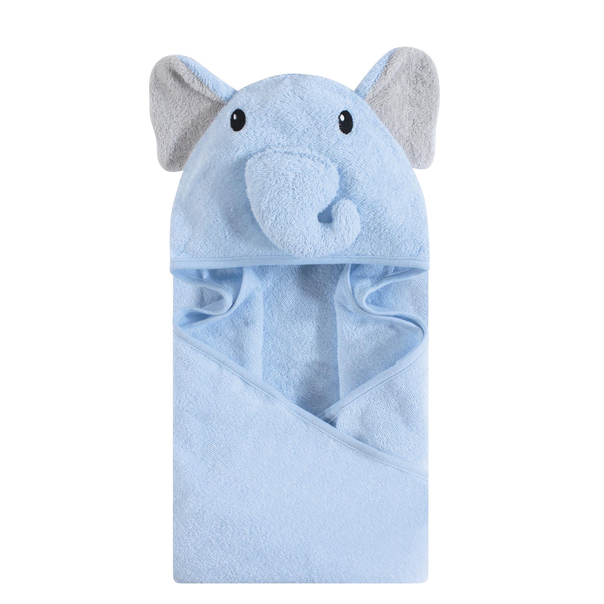d8297e92fa2a Hudson Baby - Animal Face Hooded Towel, Blue Elephant   Affordable ...