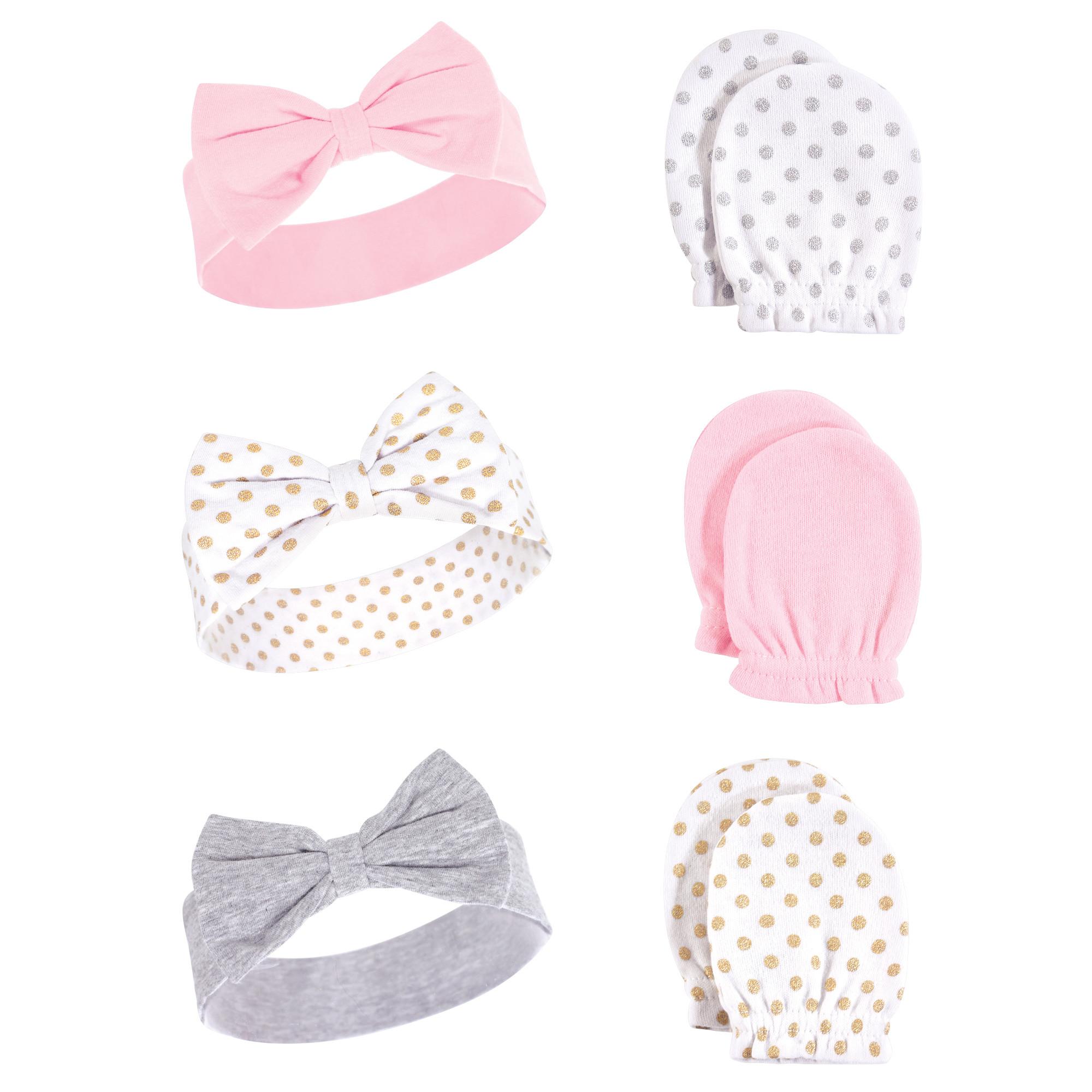 833c837fb84 Baby Headband and Scratch Mittens