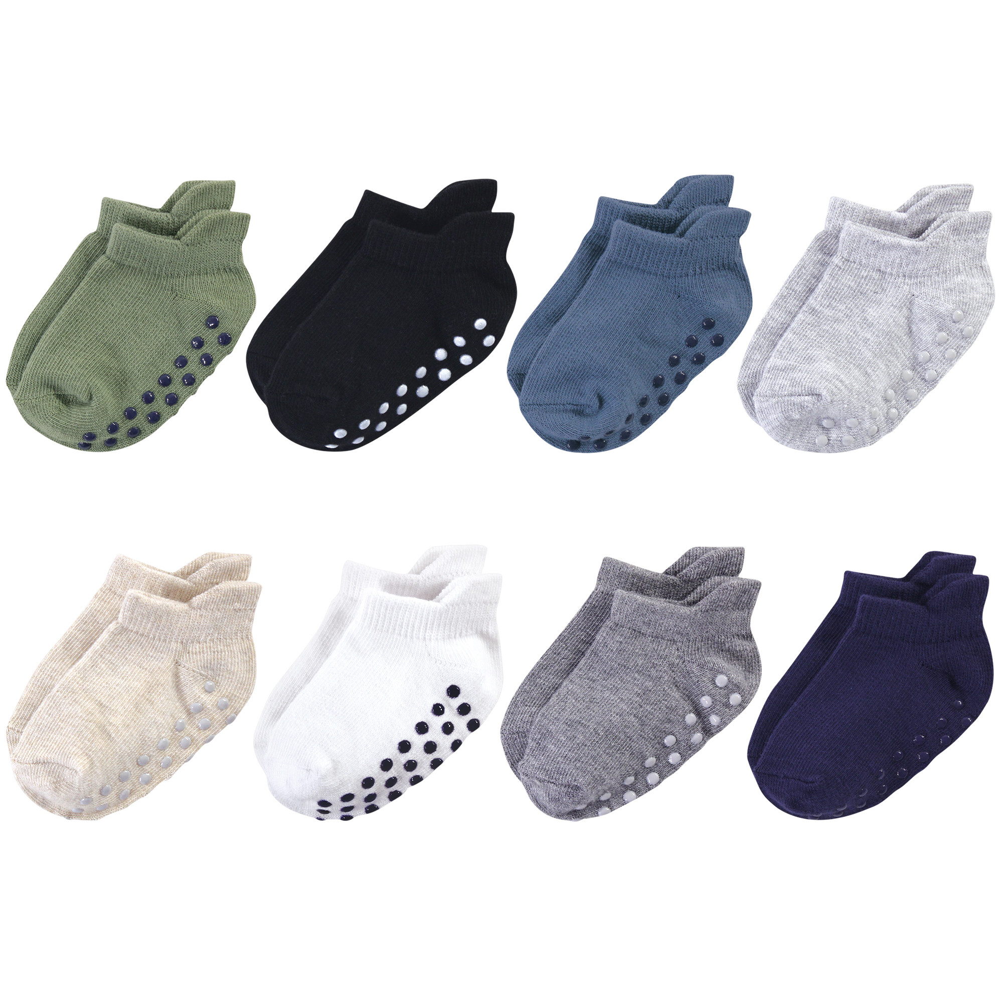 Touched by Nature Organic Cotton Socks with Non-Skid Gripper for Fall Resistance