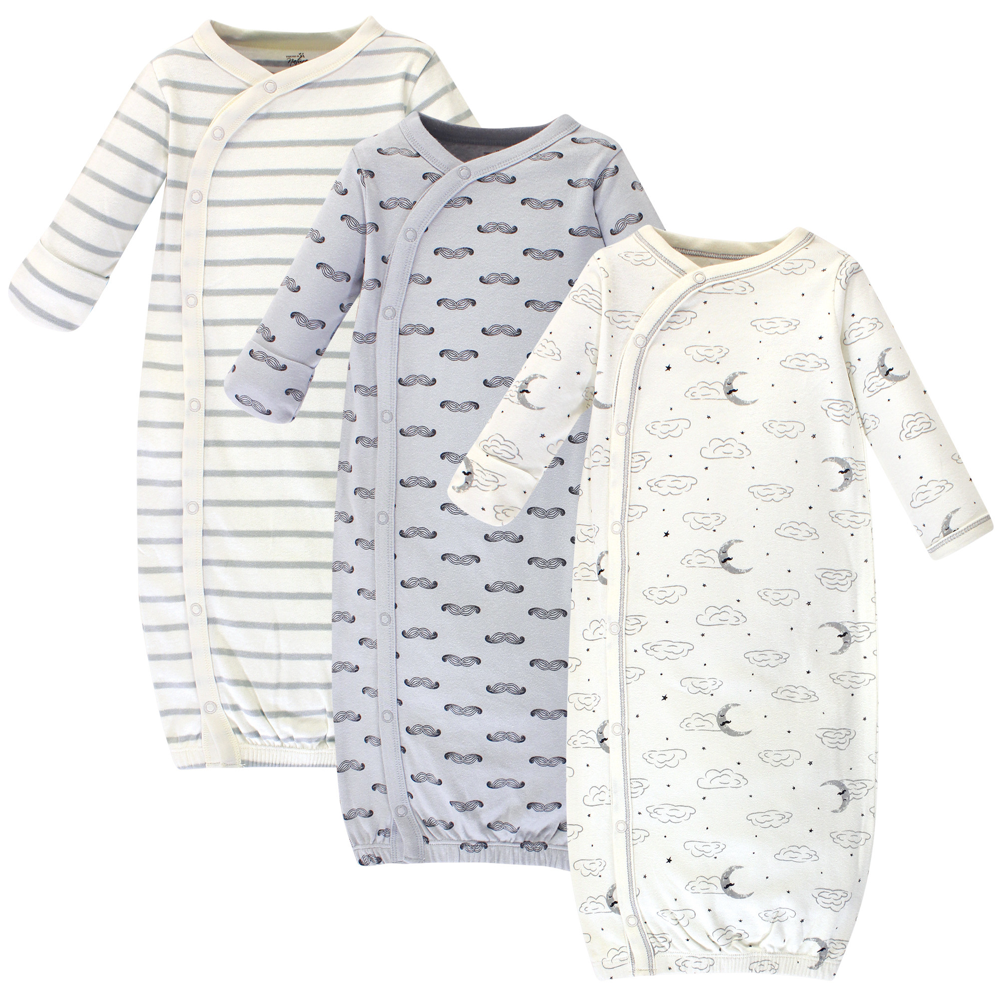 Touched by Nature Baby Organic Cotton Kimono Gowns Hedgehog Preemie