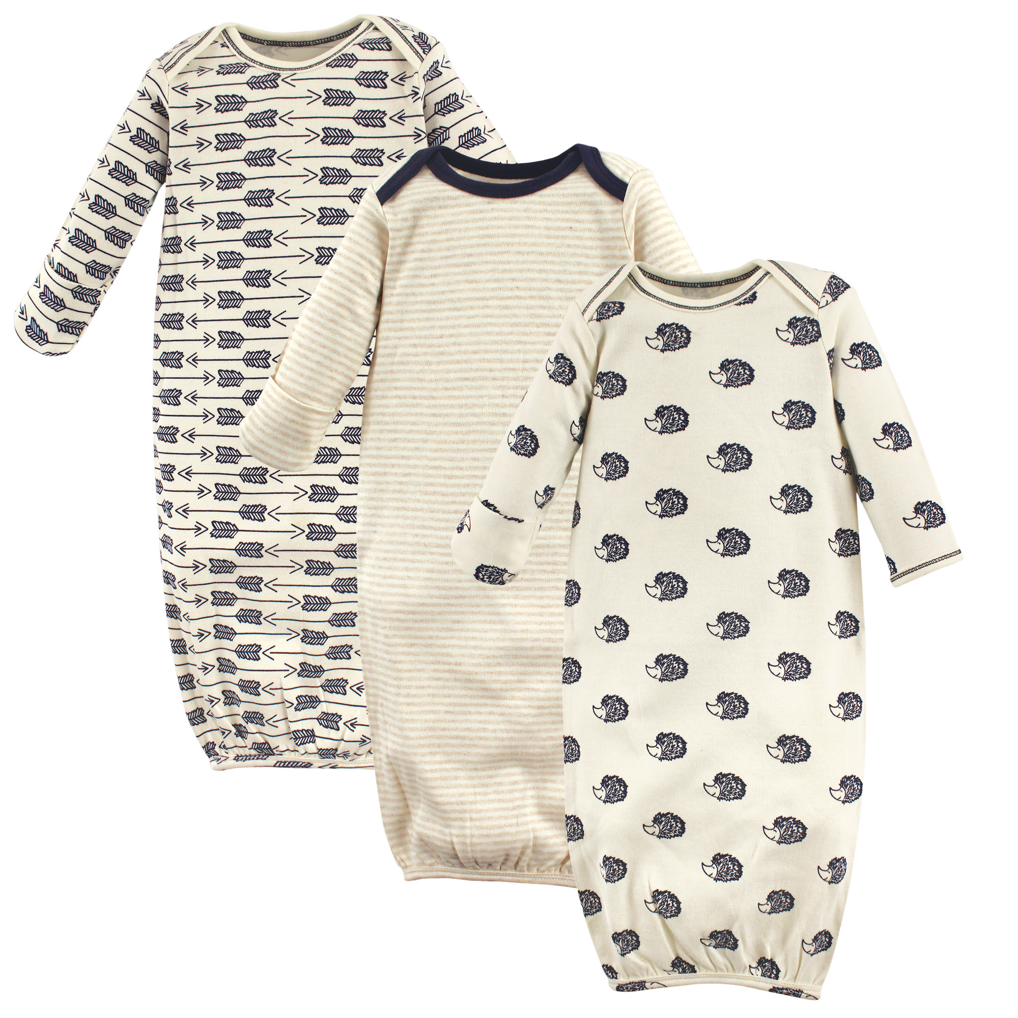 Touched By Nature - Baby Organic Cotton Sleep Gown, 3-Pack ...