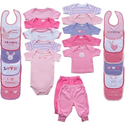 24-Pieces Coordinating Outfits Gift Cube, Pink