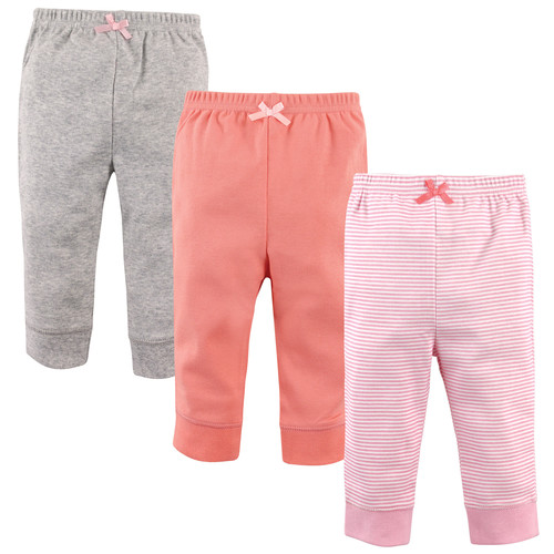 3 Pack Tapered Ankle Toddler Pants, Light Pink Stripe