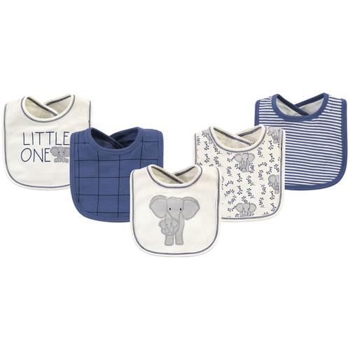 Organic Cotton Bibs, Elephant, 5-Pack