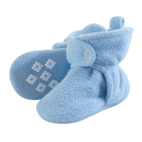 Baby Fleece Booties, Light Blue, 18-24 Months