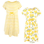 Garden Floral and Baby Organic Cotton Short-Sleeve Dresses Touched by Nature Girls Toddler 5 Toddler