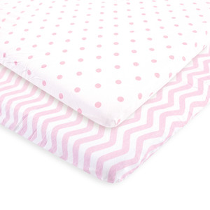 Pink Chevron and Dots