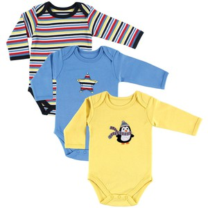 4043be9bc Hudson Baby - Baby Long Sleeve Bodysuits, 3-Pack | Affordable Infant ...