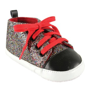 Multi Colored with Red Laces