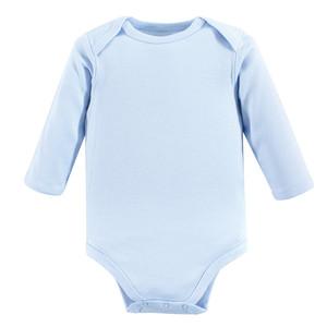 6f80236da Luvable Friends - Baby Long-Sleeve Bodysuits, 1-Pack, Blue ...