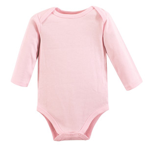 cc558b15423c Luvable Friends - Baby Long-Sleeve Bodysuits, 1-Pack, Pink ...