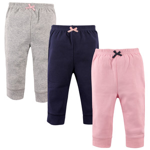 3 Pack Tapered Ankle Toddler Pants, Pink, Navy & Gray