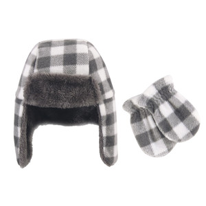 Charcoal White Plaid 2-Piece Set