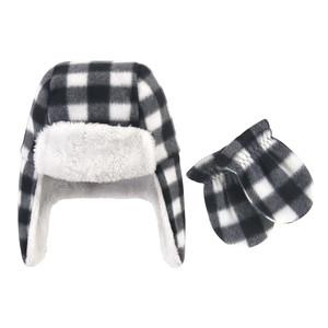 Black White Plaid 2-Piece Set