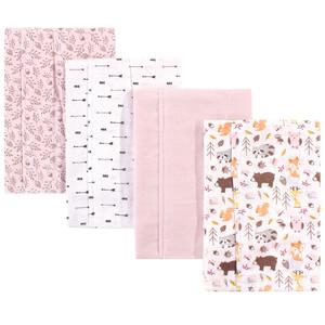 Strawberries Hudson Baby Cotton Flannel Burp Cloths One Size