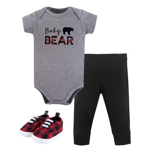 Bodysuit, Pant and Shoes, 3-Piece Set, Baby Bear, 0-3 Months