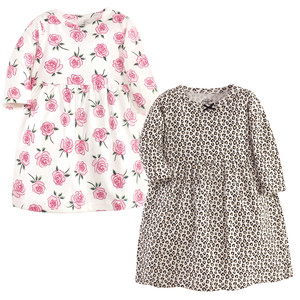 Leopard/Rose Long-Sleeve 2-Pack