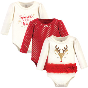 Pretty Reindeer Long-Sleeve 3-Pack