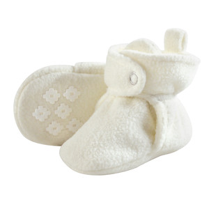 Baby Fleece Booties, Cream, 18-24 Months